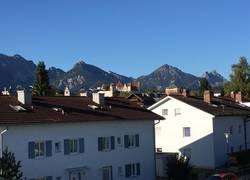 Blick aus der Wohnung auf Tiroler Bergwelt