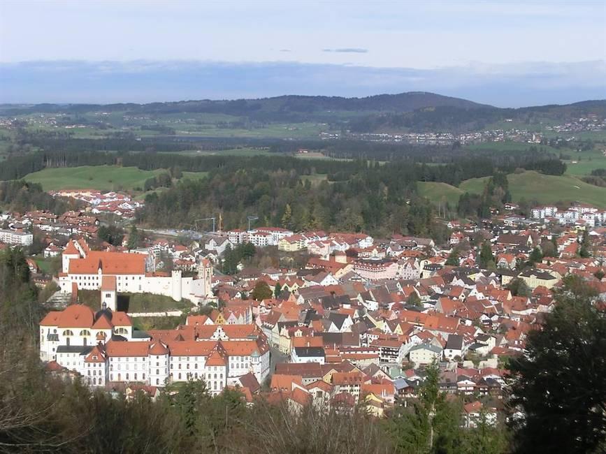Blick auf Füssen von Kalvarienberg