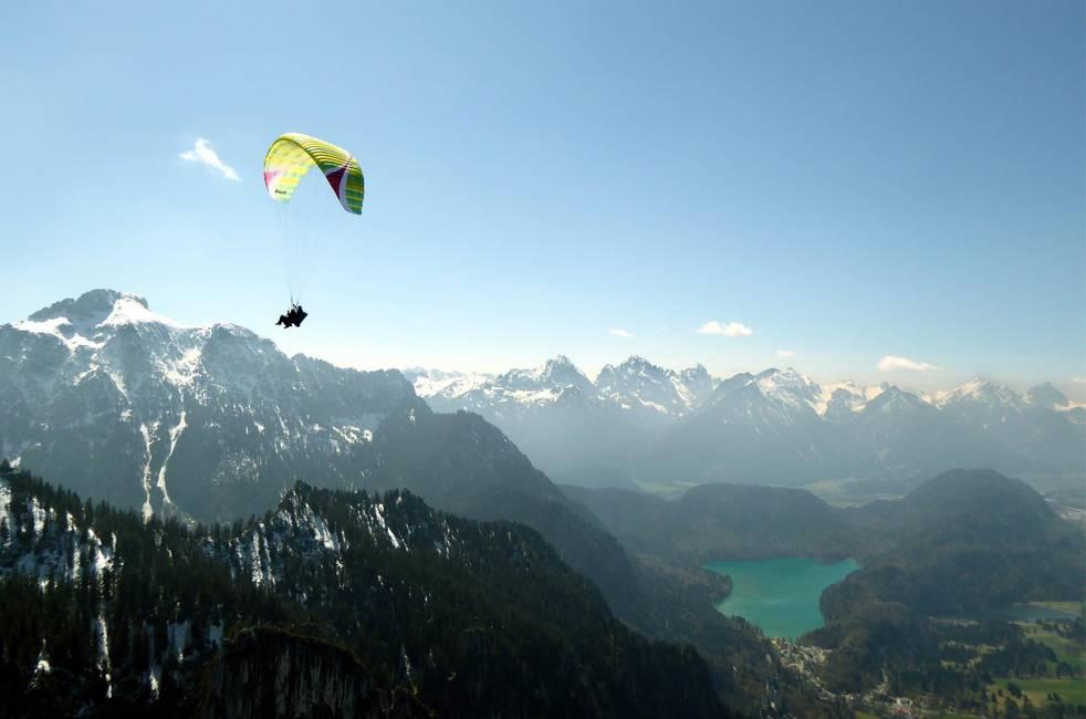 Tandemflug am Tegelberg mit Säuling und Alpsee