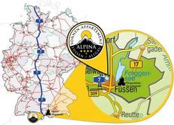 ALPINA Füssen Anfahrt Allgäu Neuschwanstein