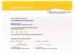 Landhaus Emanuel Urkunde 001