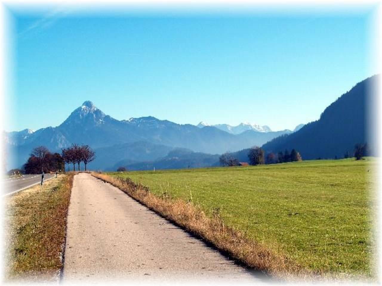 Fahrradweg von Pfronten nach Füssen