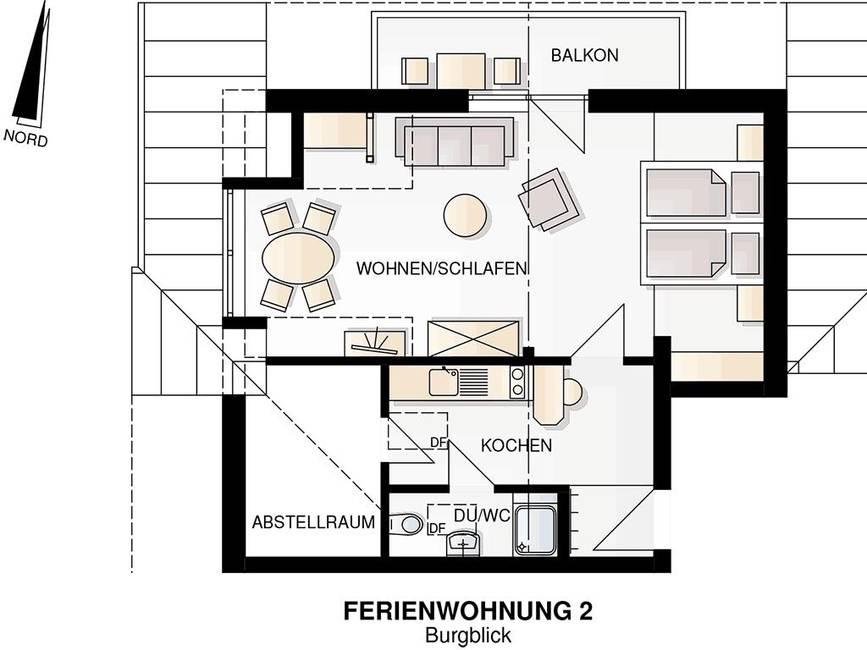 Grundriss Wohnung Burgblick
