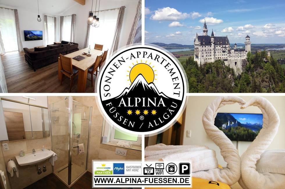 Alpina Sun Apartment w. Königscard Neuschwanstein