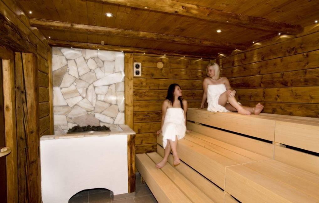 Wellnessbereich - Altholzsauna mit Seeblick