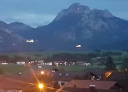 Ausblick Schloss Neuschwanstein bei Nacht