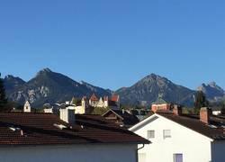 Blick aus der Wohnung auf Bergwelt+Hohes Schloß
