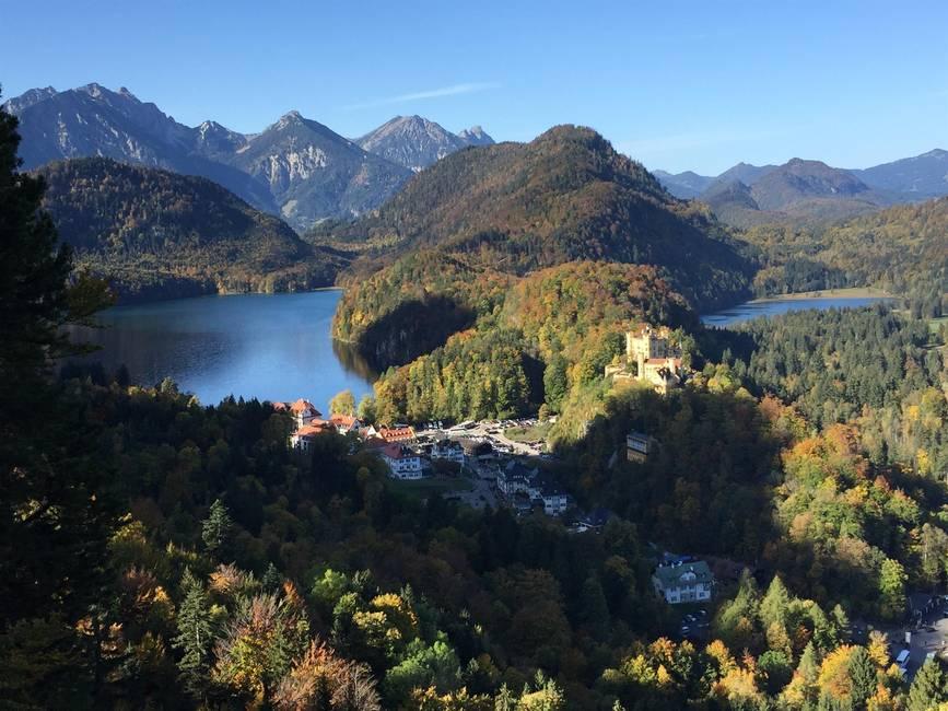 Alpsee und Schwansee mit Schloß Hohenschwangau