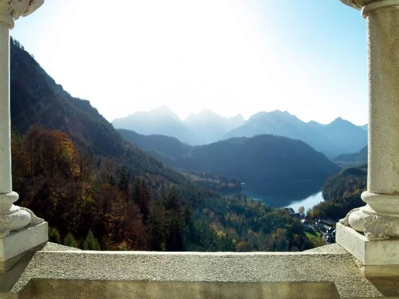 Aussicht vom Balkon Neuschwanstein
