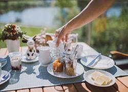 Terrasse - Frühstückstisch-detail
