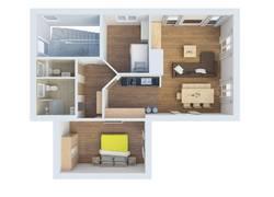 Neuer Grundriss Alpina Sonnen-Appartements Füssen