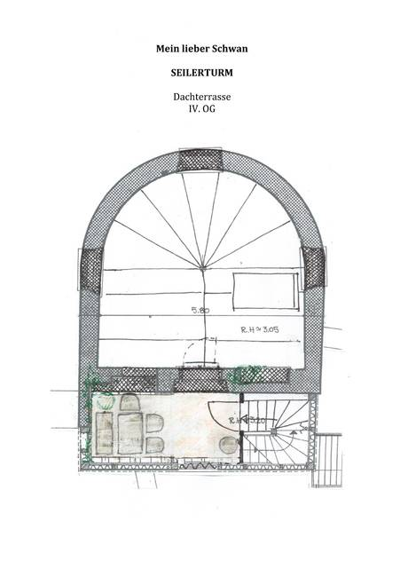 Grundriss Dachterrasse