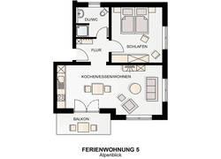 Grundriss Wohnung Alpenblick