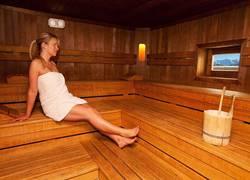 Großzügige Sauna im Appartementhotel Seespitz