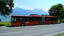 Anreise mit dem Bus nach Füssen durch das Bergpanorama.