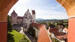 Das Hohe Schloss mit der Staatsgalerie in Füssen im Allgäu
