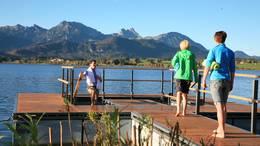 Kneippen in der Kneippinsel Hopfen am See