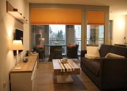 Wohnzimmer/Loggia Fluransicht
