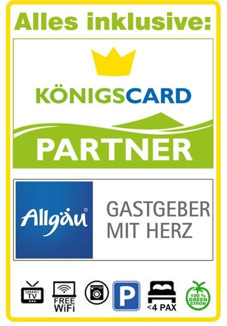 Alpina Füssen Königscard Partner Allgäu Gastgeber
