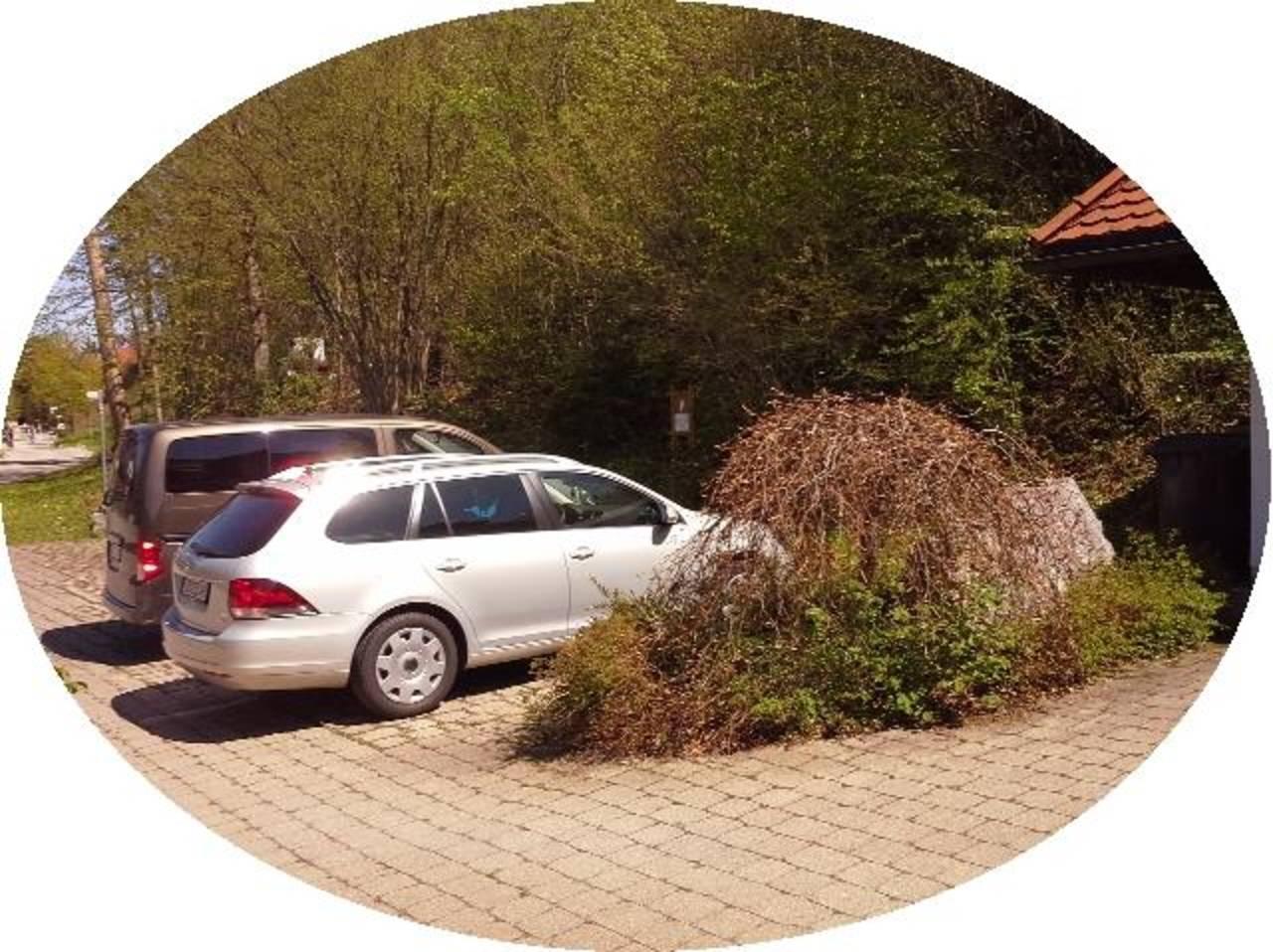 Ihr Parkplatz direkt am Haus ...