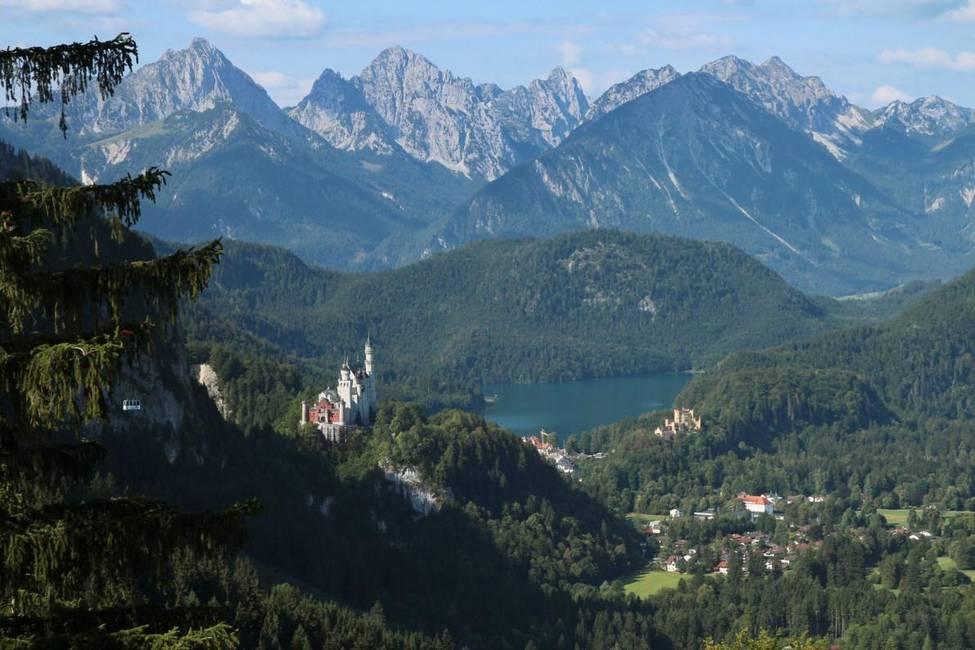 Füssen Blick Hornburg Königsschlösser