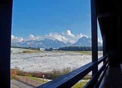Balkon-Bergblick