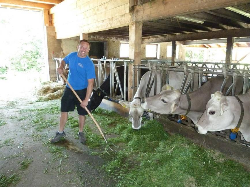 Unser Bauernhof mit unseren Milchkühen