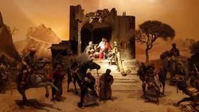 Ausgestellte Krippe bei der weihnachtlichen Altstadtführung Krippele Luage
