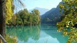 Der Flusslauf des Lech in Füssen
