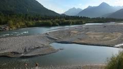 Der Wildfluss Lech bei Weißenbach