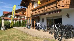 Die Easy-Tours Radstation im Hotel Sommer am Forggensee.