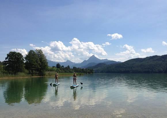 Badestelle am Weißensee