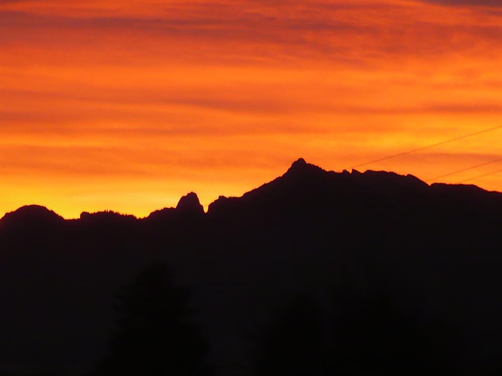 Sonnenuntergang von den Balkonen