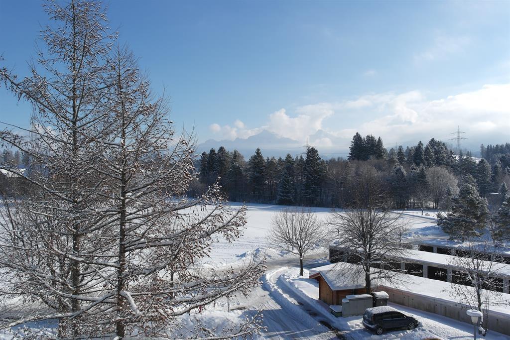 Sicht vom Balkon im Winter