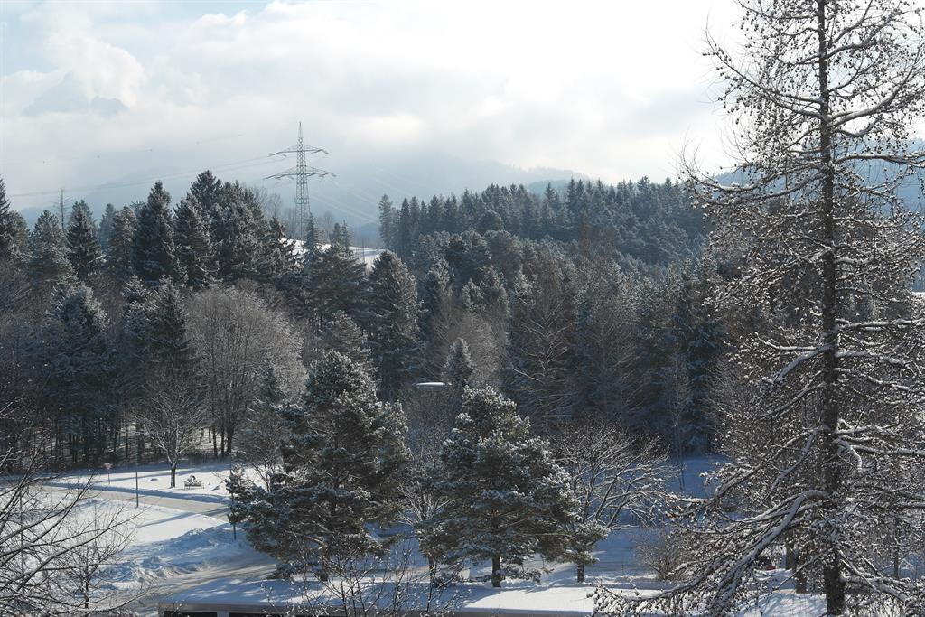 Sicht vom Balkon in Richtung Neuschwanstein