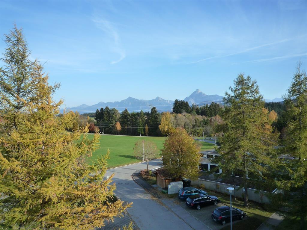Sicht vom Balkon im Herbst
