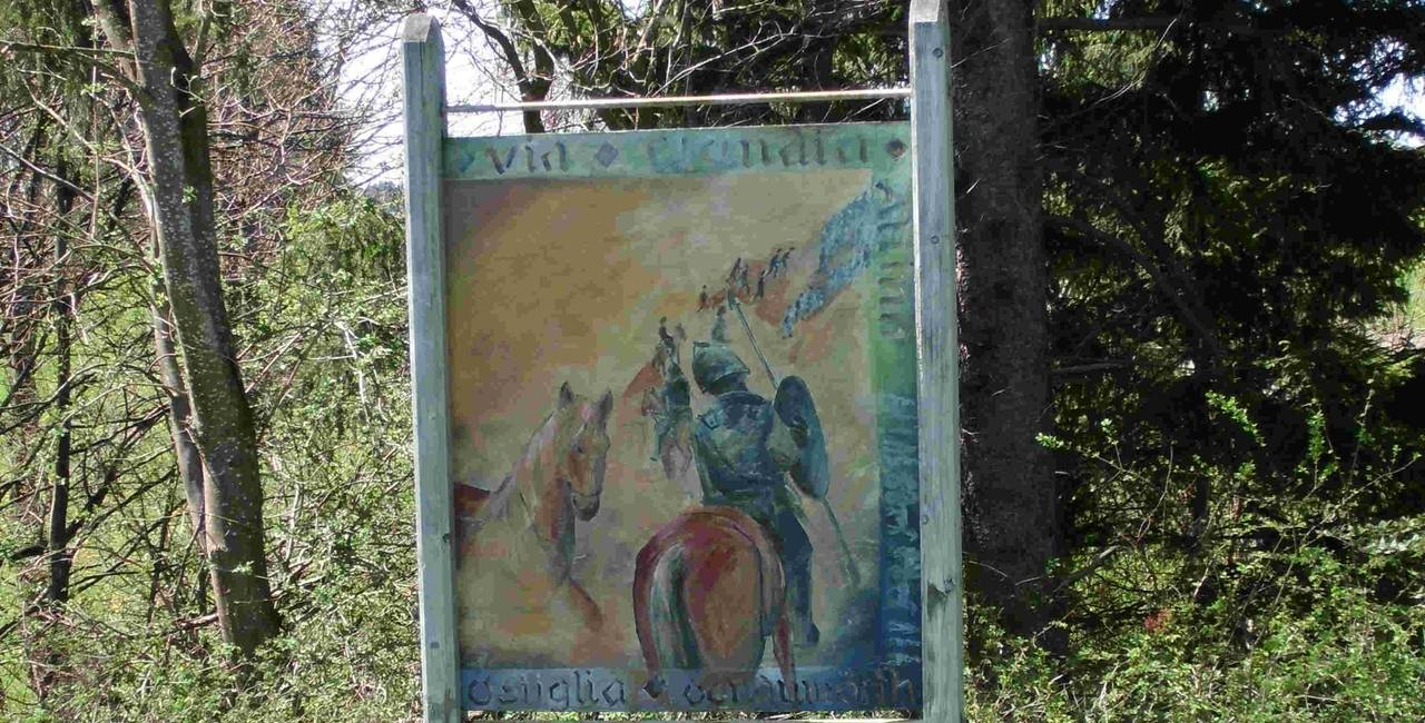Schild Via Claudia Augusta